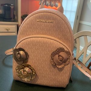 Michael Kors Medium Abbey backpack powder pink